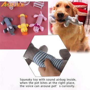 DCCKU7Q ABEDOE Dog Cat Pet Chew Toys Canvas Durability Vocalization Dolls Bite Toys for Dog Accessories pet dog products High Quality