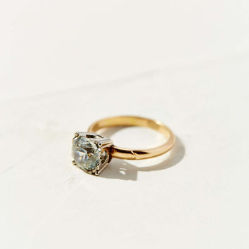 Diament Jewelry Vintage 10K Gold White Topaz Ring - Urban Outfitters