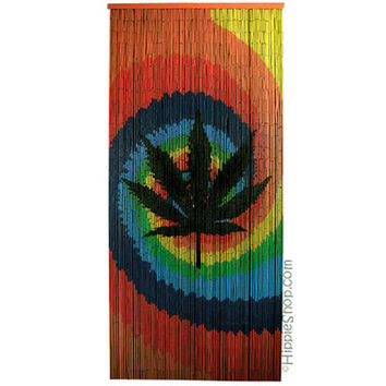 Beau Tie Dye Pot Leaf Door Beads On Sale For $29.95 At The Hippie Shop