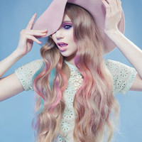 UNICORN Mane 24 Inches Deluxe Set 160g Silky Remy Hair Extensions ANY COLOR Clip In Pastel Unicorn Hair
