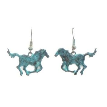 Farm Animal Earrings-Horse-Pewter