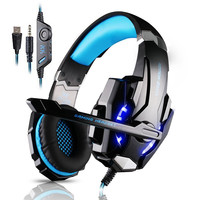 Kotion EACH G9000 gaming headset headphones with microphone for xbox one ps4 laptop tablet pc  pc gamer playstation 4 computer