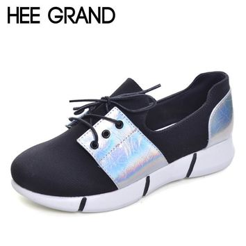 HEE GRAND 2017 Platform Loafers Casual Flats Shoes Woman Spring Autumn Creepers Gold S
