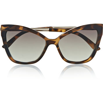 Le Specs - Naked Eyes cat-eye tortoiseshell acetate sunglasses