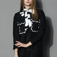 Dual Patched Wool Blend Coat