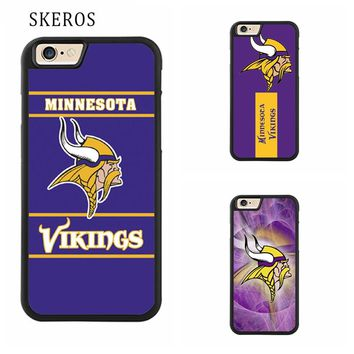 SKEROS minnesota viking Full cover cell phone case for iphone X 4 4s 5 5s 6 6s 7 8 6 plus 6s plus 7 plus 8 plus #ee329