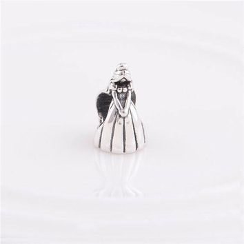 authentic silver princess charm fits pandora and european charm bracelets