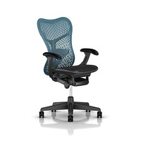 Herman Miller Mirra 2 Chair: Std Tilt - Fixed Arms - Hard Casters - Graphite Seat - TriFlex Back