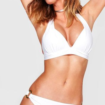 Bahamas Moulded Push Up Enhance Triangle Bikini | Boohoo