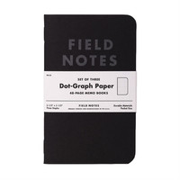 Field Notes Pitch Black Graph 3-Pack