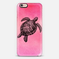 Sea Turtle Watercolor Pink iPhone 7 Case by Stephanie Denne | Casetify