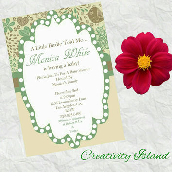 A little birdie told me... invitations! 4x6!