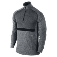 Nike Dri-FIT Knit Long-Sleeve Half-Zip Men's Running Shirt - Black