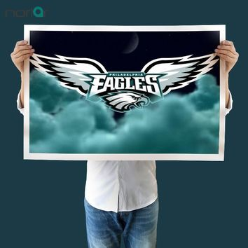 Canvas Painting Art Print  Philadelphia Eagles Flag Poster Wall art Canvas Painting Living Room Paint Bar Cafe No Frame