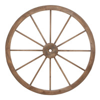 Harvey & Haley Metal Wagon Wheel with Intricate Detailed Work
