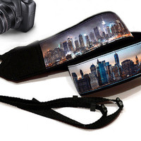 New York Camera Strap. Nikon, Canon Camera Strap. City Camera Strap