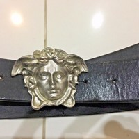 Authentic Gianni Versace Vintage belt with Versace Medusa buckle