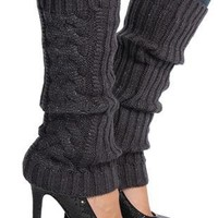 knit leg warmer with lurex weave - debshops.com