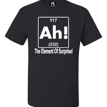 Youth Ah! The Element Of Surprise Funny Science Nerd Geek T-Shirt