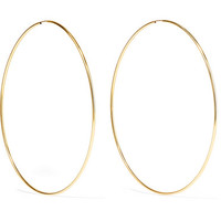 Loren Stewart - Infinity 10-karat gold hoop earrings