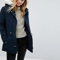 Oasis Faux Fur Parka at asos.com