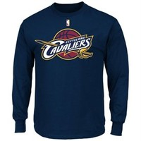 Mens Cleveland Cavaliers adidas Navy Blue ClimaLite Practice T-Shirt
