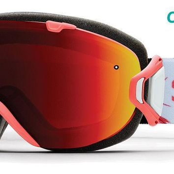 Smith - I/OS Sunburst Zen Snow Goggles / ChromaPop Sun Red Mirror Lenses
