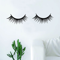 Eyelashes Beautiful Design Decal Sticker Wall Vinyl Decor Art Eyebrows Make Up Cosmetics Beauty Salon MUA lashes