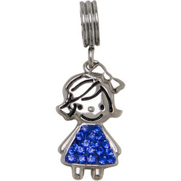 Walmart: Connections from Hallmark Stainless-Steel Crystal Birthstone Girl Charm