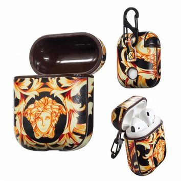 Versace AirPods Case Cover Bluetooth Wireless Earphone Protector