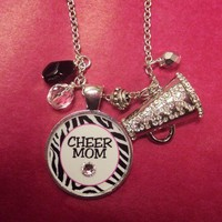 Sassy Strands Sports Mom Pendant - Cheer