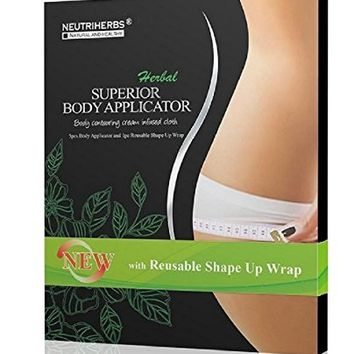 Neutriherbs 45 Min Ultimate Body Wraps Applicator (5) Plus Bonus Slimming Shape Up Wrap Strap, Weight...