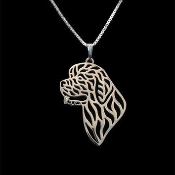 New 2016 Unique Romantic Gold Silver Color Newfoundland Head Pendant Necklace Hunger Games Necklace Women Best Friend Choker