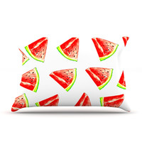 "Sreetama Ray ""Summer Fun"" Watermelon Pillow Case"