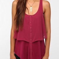 Pins and Needles Button-Down Overlay Tank