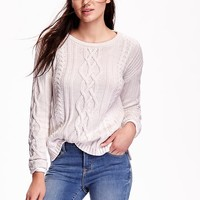 Old Navy Womens Cable Knit Sweater