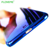 FLOVEME Gradient Case for iPhone 6 6S 7 Ultra thin PC Blue Ray Crystal Clear Cover Luxury Case for iPhone 6 6S Plus 7 Plus Coque