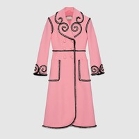 Gucci Crystal embroidered wool coat