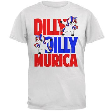 4th of July Dilly Dilly Murica Dabbing Unicorn Mens T Shirt