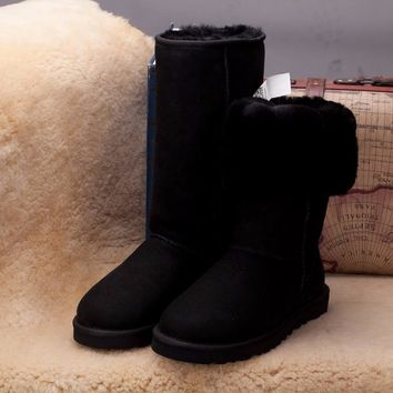Best Online Sale Ugg 5815 Black Classic II Tall Boot Snow Boots