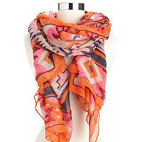 Bright Geo Tribal Print Scarf: Charlotte Russe