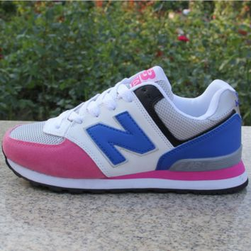 Women Men Casual Running NEW BALANCE Sport Shoes Sneakers Pink&blue
