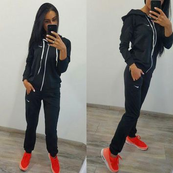 DCCK7XP Nike :Fashion Long Sleeve Sweater Set Two-Piece Sportswear