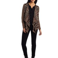 Mac & Jac Women's Najavo Stripe Cardigan Sweater