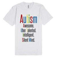 Autism Support Shirt-Unisex White T-Shirt