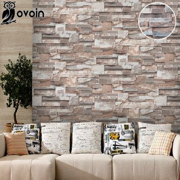 Vinyl 3D Stone Wall Paper Roll Brick Wall Wallpaper for Living Room, Dinning Room,Tv Background