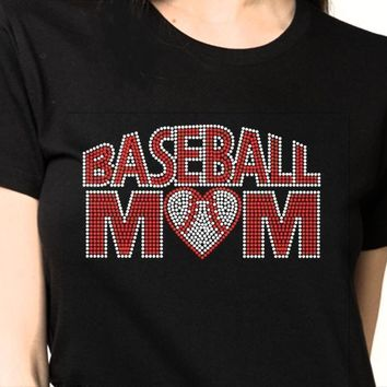 Bling T-Shirt  | Women Baseball Rhinestones 1