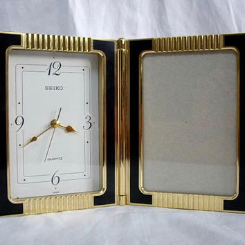 Vintage SEIKO Clock and Picture Frame