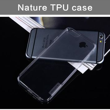 For Apple iPhone 6 6s Case Slim Crystal Clear TPU Silicone Protective sleeve for iphone case 6s cover cases 6s with dust plug
