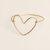 handmade heart ring  goldclad wire love ring gift